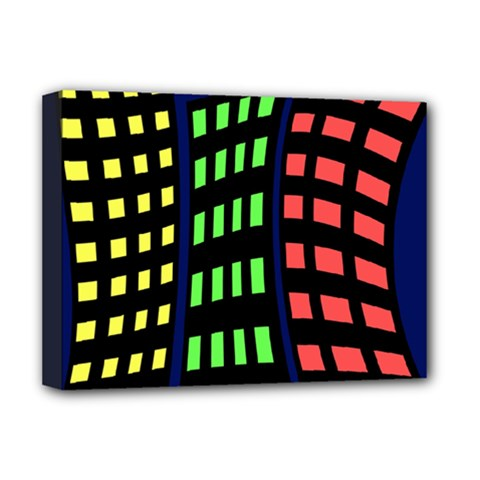Colorful abstract city landscape Deluxe Canvas 16  x 12