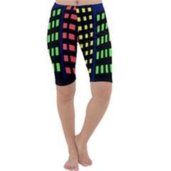 Colorful abstract city landscape Cropped Leggings