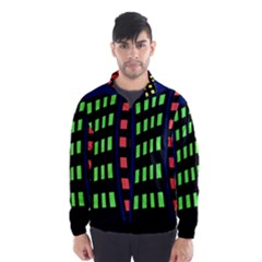 Colorful abstract city landscape Wind Breaker (Men)