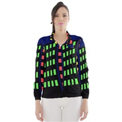 Colorful abstract city landscape Wind Breaker (Women)