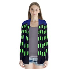 Colorful abstract city landscape Drape Collar Cardigan