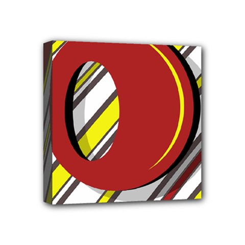 Red and yellow design Mini Canvas 4  x 4