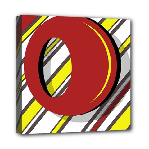 Red and yellow design Mini Canvas 8  x 8