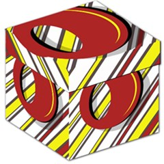 Red and yellow design Storage Stool 12
