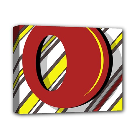 Red and yellow design Deluxe Canvas 14  x 11