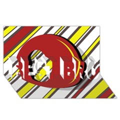 Red and yellow design BEST BRO 3D Greeting Card (8x4)