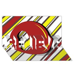 Red and yellow design BELIEVE 3D Greeting Card (8x4)