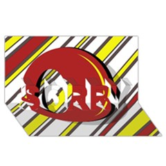 Red and yellow design SORRY 3D Greeting Card (8x4)