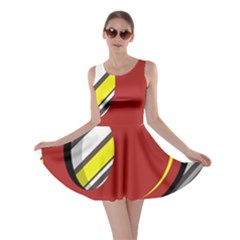 Red and yellow design Skater Dress