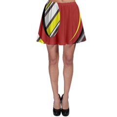 Red and yellow design Skater Skirt