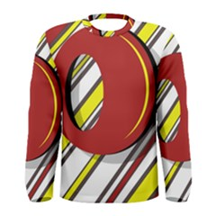 Red and yellow design Men s Long Sleeve Tee