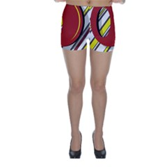 Red and yellow design Skinny Shorts