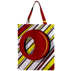 Red and yellow design Zipper Classic Tote Bag