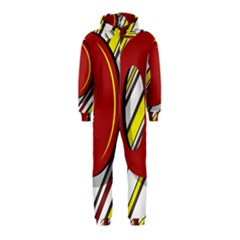 Red and yellow design Hooded Jumpsuit (Kids)