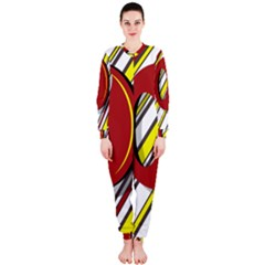 Red and yellow design OnePiece Jumpsuit (Ladies)