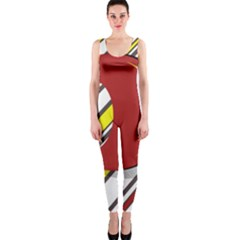 Red and yellow design OnePiece Catsuit