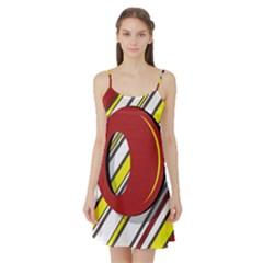 Red and yellow design Satin Night Slip