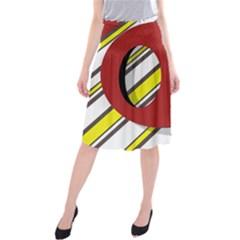 Red and yellow design Midi Beach Skirt