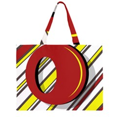 Red and yellow design Large Tote Bag