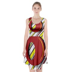 Red and yellow design Racerback Midi Dress