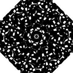 Black and white pattern Folding Umbrellas