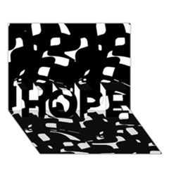 Black And White Pattern Hope 3d Greeting Card (7x5)