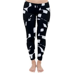 Black and white pattern Winter Leggings
