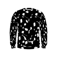 Black and white pattern Kids  Sweatshirt