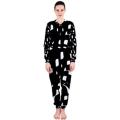 Black and white pattern OnePiece Jumpsuit (Ladies)