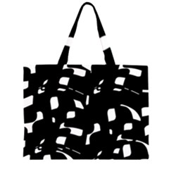Black and white pattern Large Tote Bag