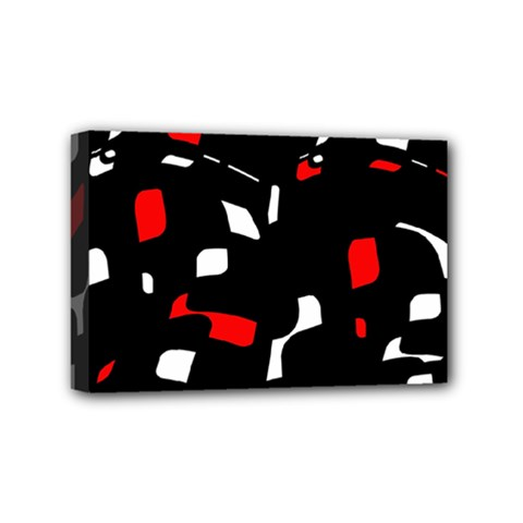 Red, black and white pattern Mini Canvas 6  x 4