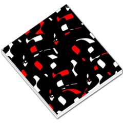 Red, black and white pattern Small Memo Pads