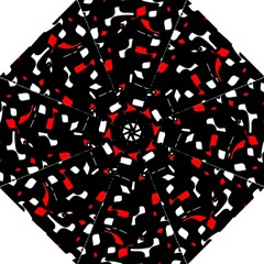 Red, black and white pattern Hook Handle Umbrellas (Large)
