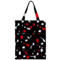 Red, black and white pattern Zipper Classic Tote Bag