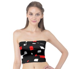 Red, black and white pattern Tube Top