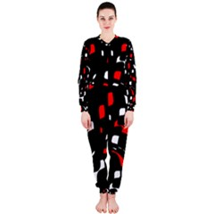 Red, black and white pattern OnePiece Jumpsuit (Ladies)