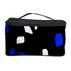 Blue, black and white  pattern Cosmetic Storage Case