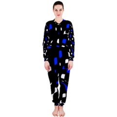 Blue, black and white  pattern OnePiece Jumpsuit (Ladies)