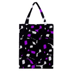 Purple, black and white pattern Classic Tote Bag
