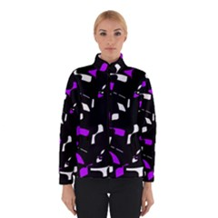 Purple, Black And White Pattern Winterwear