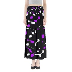 Purple, black and white pattern Maxi Skirts