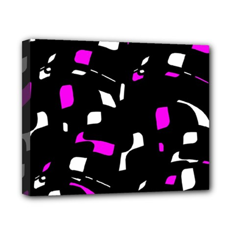 Magenta, black and white pattern Canvas 10  x 8