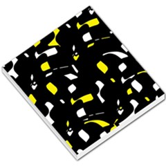 Yellow, black and white pattern Small Memo Pads