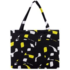 Yellow, black and white pattern Mini Tote Bag