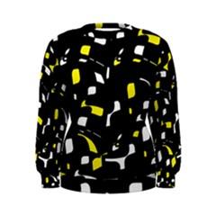 Yellow, black and white pattern Women s Sweatshirt