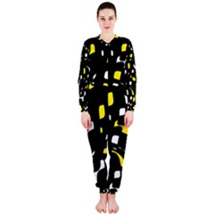 Yellow, black and white pattern OnePiece Jumpsuit (Ladies)