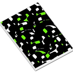 Green, black and white pattern Large Memo Pads