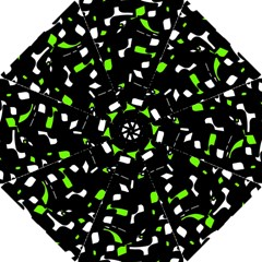 Green, black and white pattern Hook Handle Umbrellas (Small)
