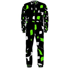 Green, black and white pattern OnePiece Jumpsuit (Men)