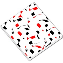 White, red and black pattern Small Memo Pads